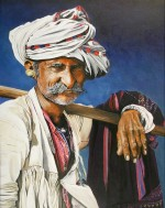 Print / original commission acrylic painting of shepherd by Derek Blois