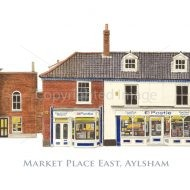 Watercolour painting of Aylsham Market Place (East) by Derek Blois