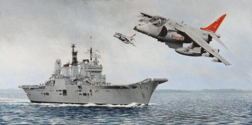 Gone but not forgotten.  HMS Ark Royal and Harriers. - Derek Blois