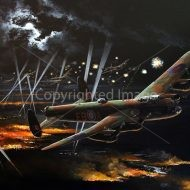 Print / acrylic painting of Lancaster bombers by Derek Blois