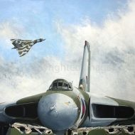 Print / acrylic painting of two Vulcans on show by Derek Blois